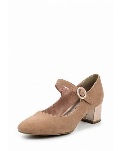 Туфли с застежкой на лодыжке замшевые на каблуке Tamaris