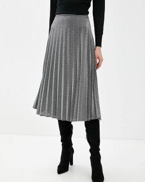 Плиссированная юбка осенняя серая Pimkie