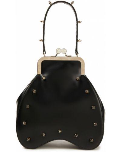 Czarna włoska torebka Simone Rocha