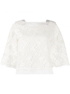 Свободная кружевная белая блузка See By Chloé