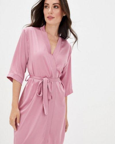 Розовый домашний ажурный халат Mianagreen