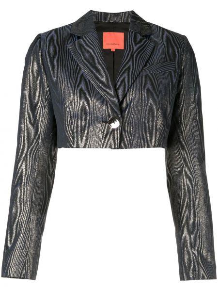 Синий пиджак с люрексом с манжетами Manning Cartell