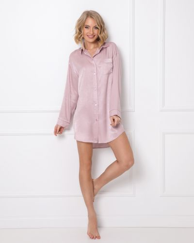 Ночнушка на пуговицах - розовая Aruelle