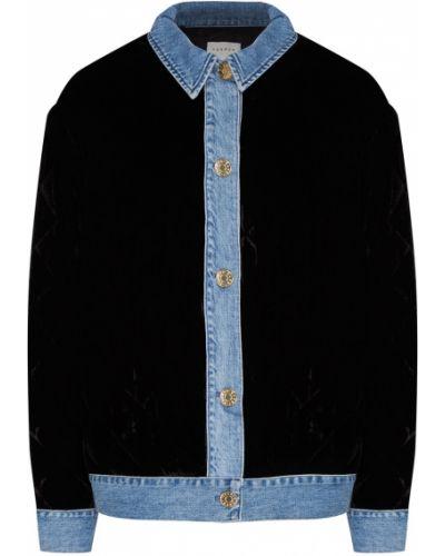 Джинсовая куртка черная стеганая Sandro
