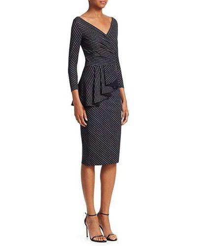 Асимметричное платье макси с длинными рукавами с V-образным вырезом Chiara Boni La Petite Robe