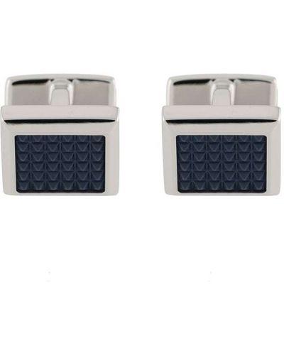 Серебряные запонки прямоугольные со вставками Boss Hugo Boss