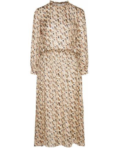 Платье миди из вискозы шелковое Sandro