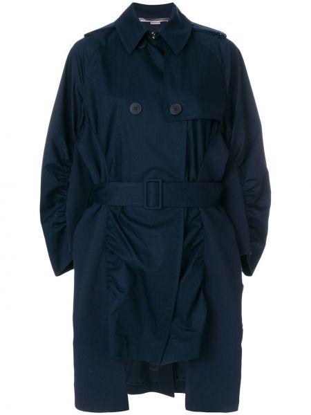 Długi płaszcz klasyczny niebieski Stella Mccartney