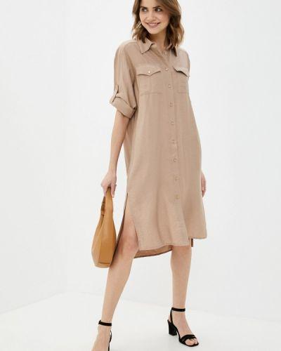 Бежевое платье-рубашка Petit Pas