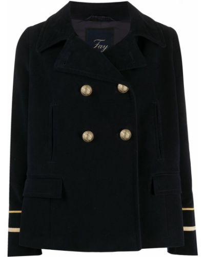 Прямой приталенный удлиненный пиджак милитари с воротником Fay