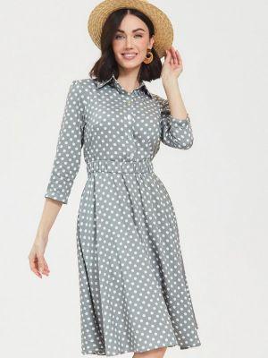 Серое платье-рубашка Masha Mart