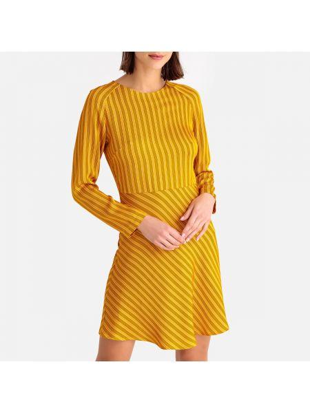 Платье миди на пуговицах с рукавами La Redoute
