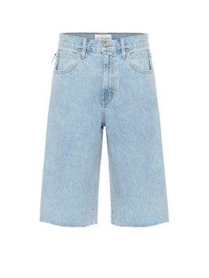 Ватные хлопковые синие джинсовые шорты Slvrlake