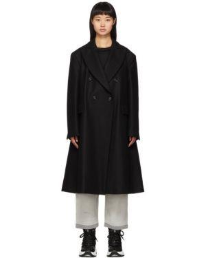 Длинное пальто без воротника на кнопках Mm6 Maison Margiela