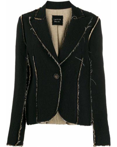 Черный удлиненный пиджак Lanvin Pre-owned