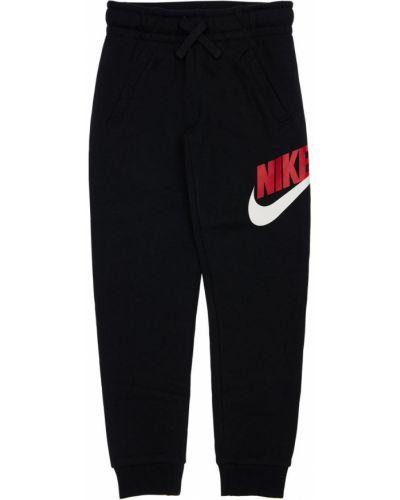 Czarne joggery bawełniane Nike