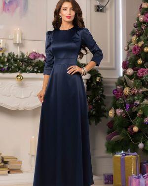 Вечернее платье миди - синее 1001 Dress