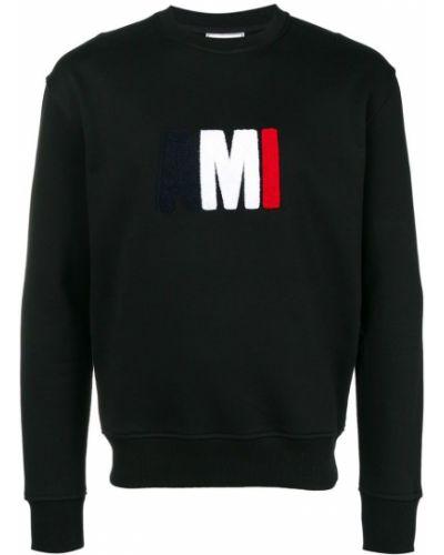 Толстовка с логотипом черная Ami Alexandre Mattiussi