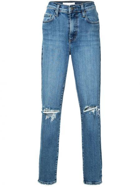 С завышенной талией хлопковые синие джинсы-скинни с поясом Nobody Denim