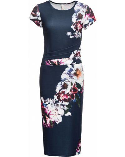 Платье миди с цветочным принтом классическое Bonprix