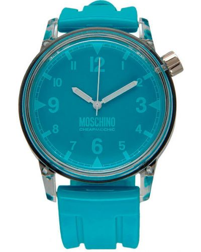 Кварцевые часы водонепроницаемые с подсветкой Moschino