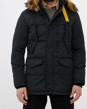 Зимняя куртка утепленная черная Jackets Industry