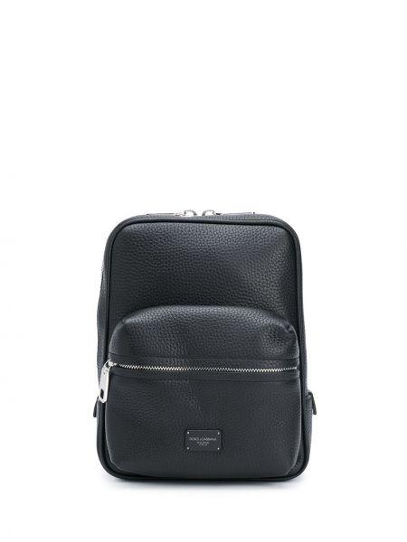 Czarny plecak skórzany Dolce And Gabbana