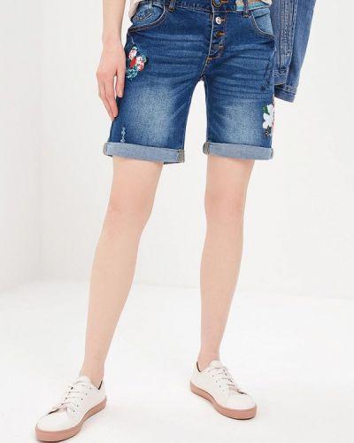 Синие джинсовые шорты Desigual