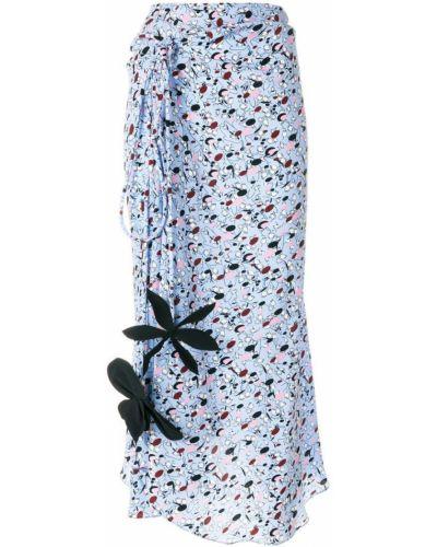 Вязаная юбка с завышенной талией асимметричная Marni