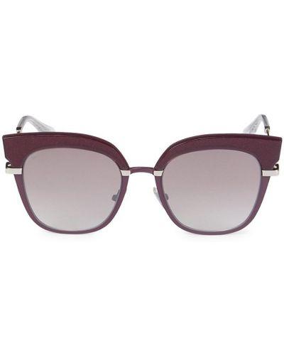 Солнцезащитные очки металлические - бордовые Jimmy Choo
