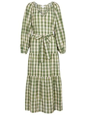 Платье макси длинное - зеленое Velvet