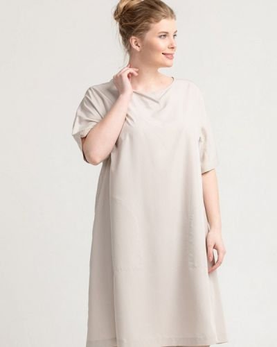 Повседневное платье серое осеннее Larro