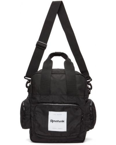 Текстильный стеганый черный рюкзак для ноутбука Reebok By Victoria Beckham