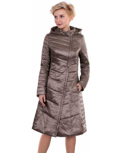 Пальто с капюшоном демисезонное с воротником-стойкой J-splash