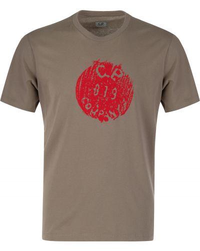 Хлопковая футболка - серая C.p. Company