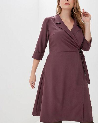 Повседневное платье осеннее фиолетовый Sparada