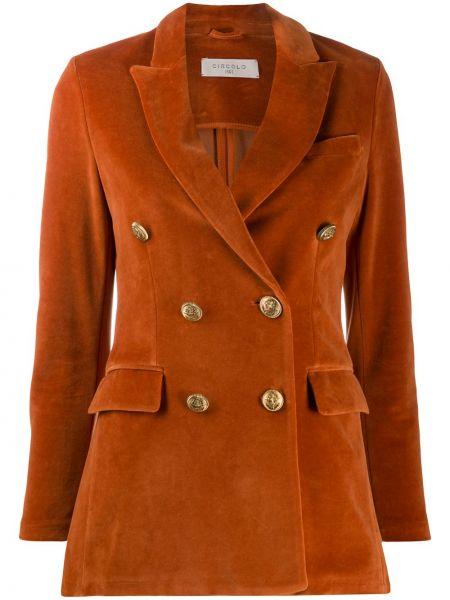 С рукавами оранжевый пиджак с карманами с лацканами Circolo 1901