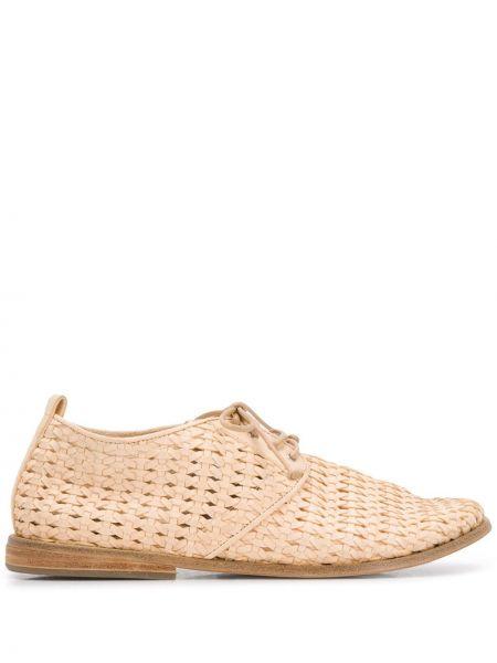 Туфли на каблуке на плоской подошве плетеные Marsèll