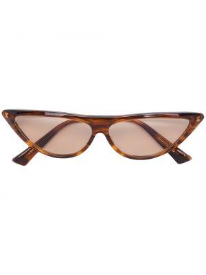 Прямые солнцезащитные очки металлические хаки Christian Roth