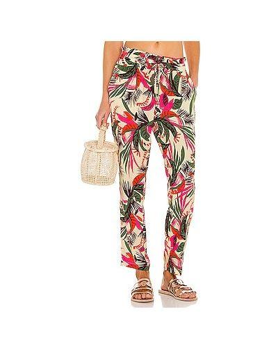 Бежевые брюки с карманами из вискозы Maaji