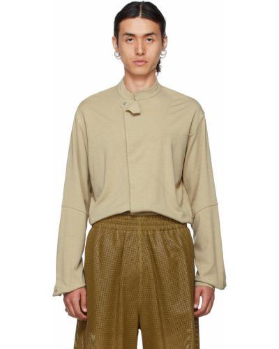 Beżowa koszula z długimi rękawami z wiskozy Vejas