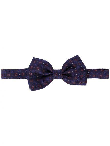 Jedwab niebieski krawat na hakach Tagliatore