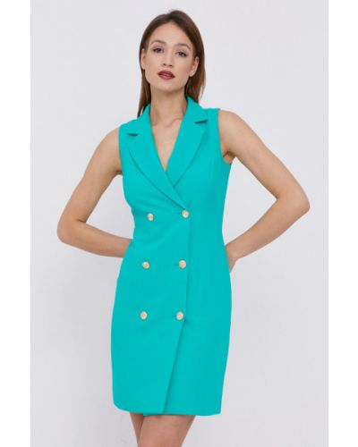 Zielona sukienka koktajlowa z wiskozy bez rękawów Morgan