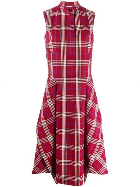 Хлопковое платье миди - красное Mulberry