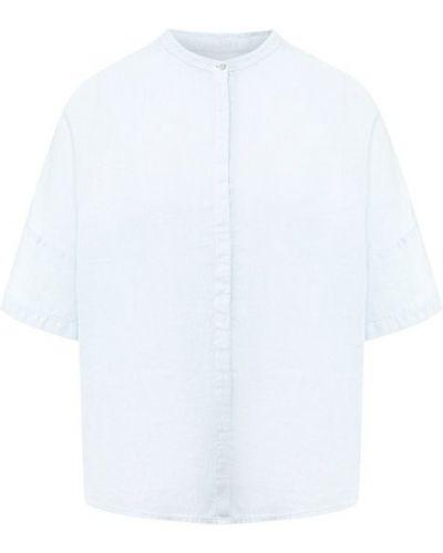 Льняная рубашка - голубая 120% Lino