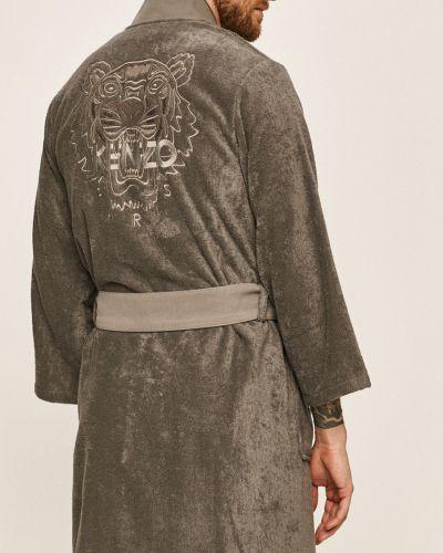 Szary szlafrok bawełniany Kenzo