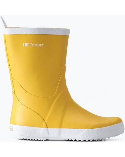 Сапоги на каблуке - желтые Tretorn