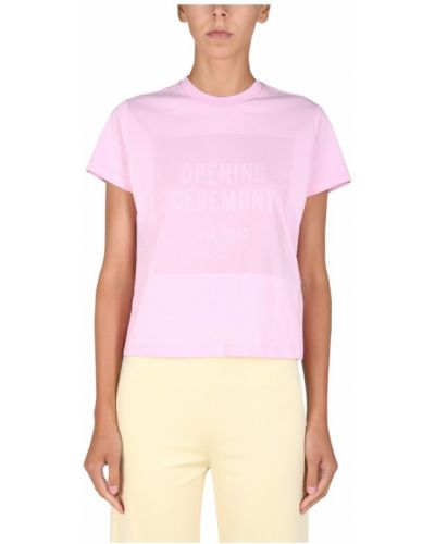 Różowa t-shirt Opening Ceremony