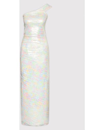 Biała sukienka koktajlowa Rotate