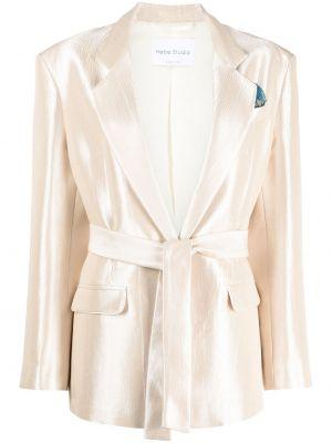 Однобортный пиджак с карманами на пуговицах Hebe Studio